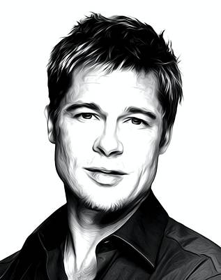 Legends Of The Fall Digital Art - Brad Pitt Print by Best Actors