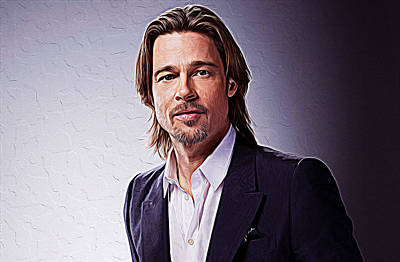 Brad Pitt Art Print