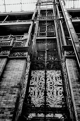Photograph - Bradbury Building Elevator by Joseph Hollingsworth
