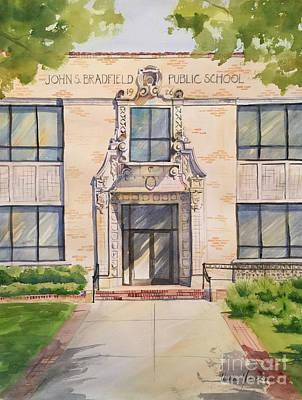 Painting - Bradfield Elementary School by Liana Yarckin