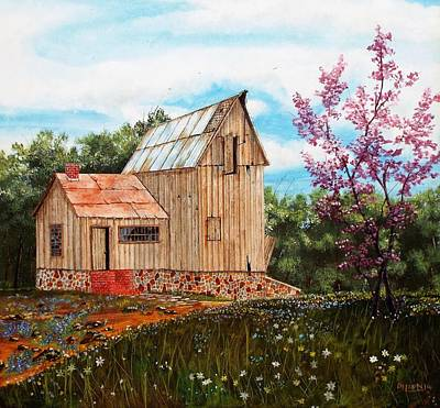 Old Barns Painting - Bradford's Barn by Michael Dillon