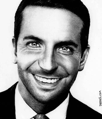 Drawing - Bradley Cooper  by Rick Fortson