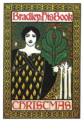 Mixed Media - Bradley His Book - Christmas - Vintage Art Nouveau Poster - Advertising by Studio Grafiikka