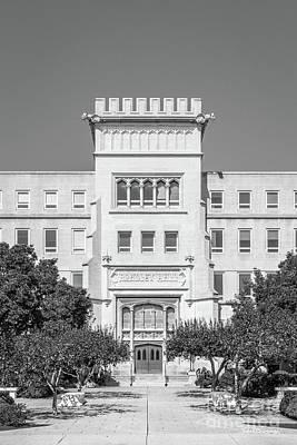 Photograph - Bradley University Bradley Hall Vertical by University Icons