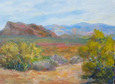 Painting - Bradshaws, West Of Phoenix by Nora Sallows