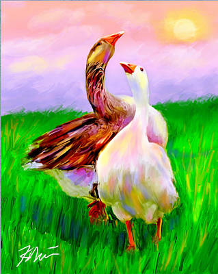 Goose Digital Art - Brady And Autumn by Karen Derrico