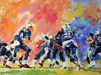 Derek Russell Wall Art - Painting - Brady Handoff by Derek Russell