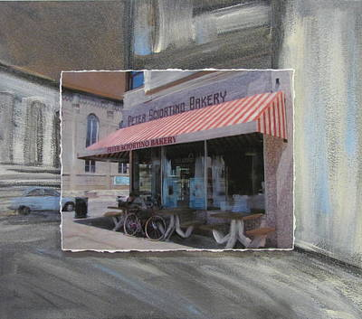 Brady Street - Peter Scortino Bakery Layered Original by Anita Burgermeister