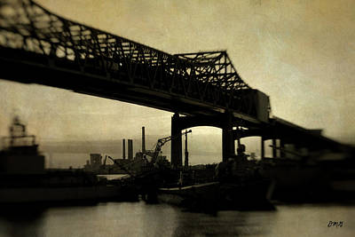 Photograph - Braga Bridge Fall River Ma by Dave Gordon