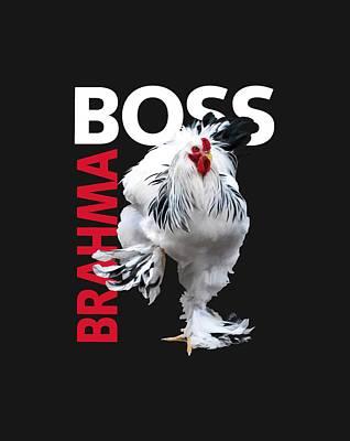 Light Brahma Wall Art - Digital Art - Brahma Boss II T-shirt Print by Sigrid Van Dort