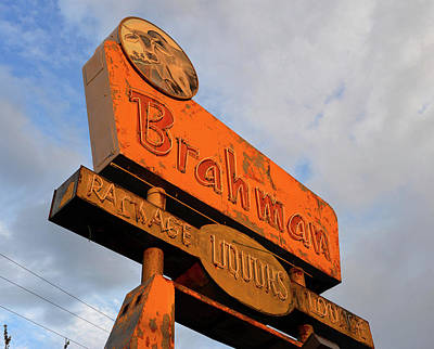 Photograph - Brahman Store Sign 1960s by David Lee Thompson