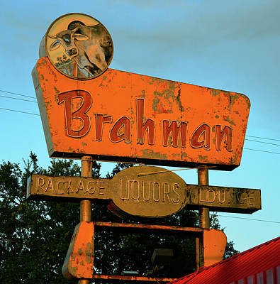 Photograph - Brahman Store Sign Work Two by David Lee Thompson