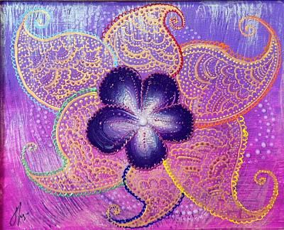 Chakra Rainbow Painting - Brahma's Flower  by Anastasia Vodyasova