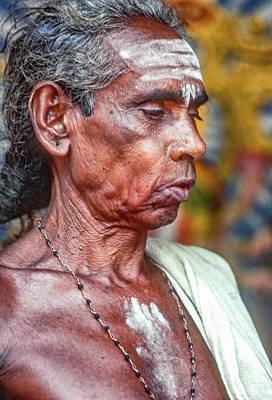 Worship Necklace Photograph - Brahmin Priest by Steve Harrington
