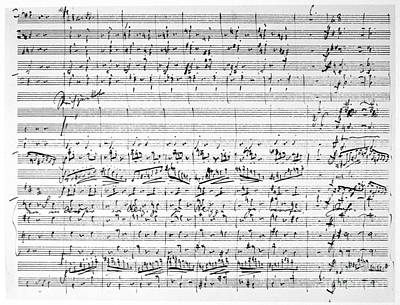Photograph - Brahms Manuscript by Granger