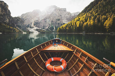 Photograph - Braies Lake by JR Photography