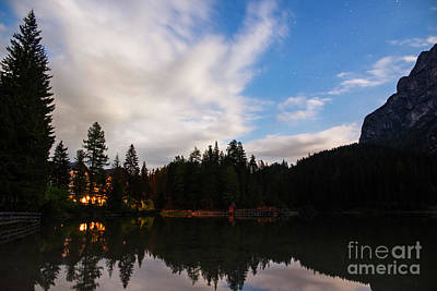 Photograph - Braies Lake Night by Yuri Santin