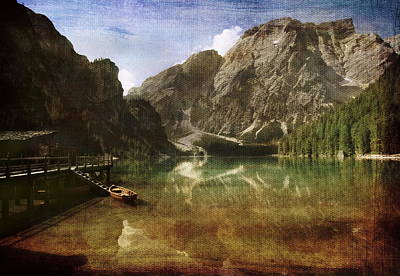 Photograph - Braies Lake by Vittorio Chiampan