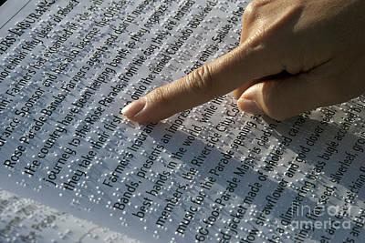 Photograph - Braille Raised Dots by David Zanzinger