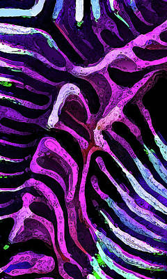 Digital Art - Brain Coral Abstract 1 In Magenta by ABeautifulSky Photography by Bill Caldwell