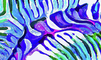 Photograph - Brain Coral Abstract 5 In Blue by ABeautifulSky Photography by Bill Caldwell