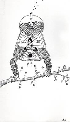 Drawing - Brain Food by Andrew Herman