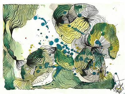 Drawing - Brain by Julia Zoellner