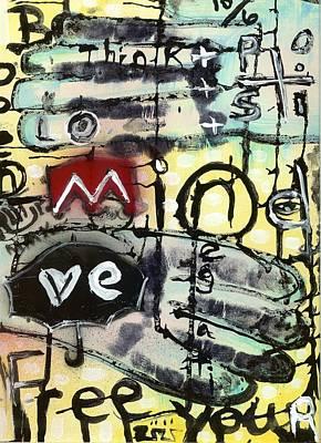 Modernism Mixed Media - Brain Stain by Robert Wolverton Jr