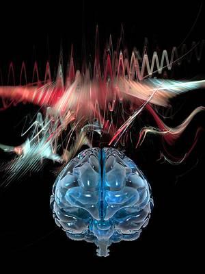 Human Brain Photograph - Brain Wave, Conceptual Artwork by Laguna Design
