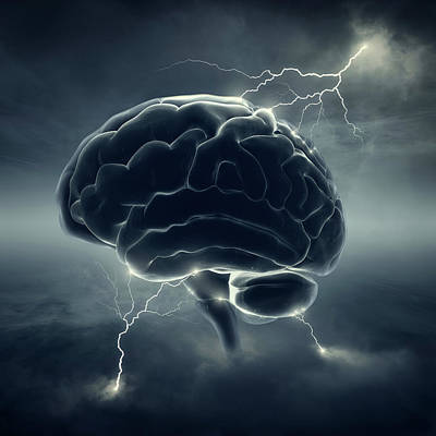 Surrealism Royalty Free Images - Brainstorm Royalty-Free Image by Johan Swanepoel
