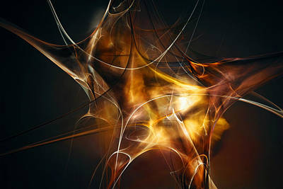 Fractal Digital Art - Brainstorm by Scott Norris