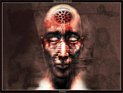 Scary Digital Art - Brainwashed by Robert  Adelman
