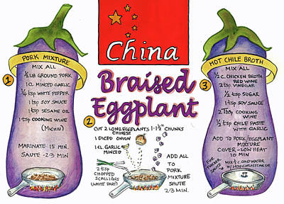 Painting - Braised Eggplant by Diane Fujimoto