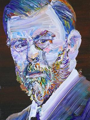 Art Print featuring the painting Bram Stoker - Oil Portrait by Fabrizio Cassetta
