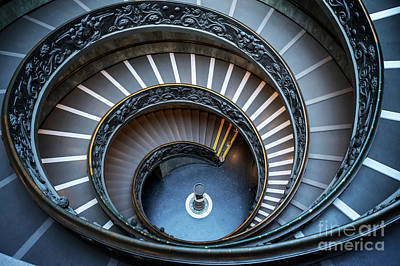 Wall Art - Photograph - Bramante Spiral Staircase At The Vatican by Delphimages Photo Creations