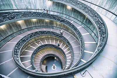 Photograph - Bramante Staircase by Nick Jene