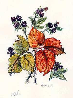 Ripe Drawing - Bramble by Nell Hill