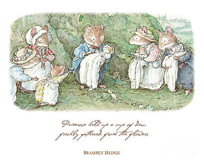 Brambly Hedge Naming Ceremony Art Print by Brambly Hedge