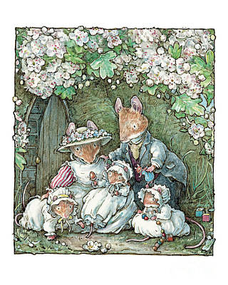 Brambly Hedge - Poppy Dusty And Babies Art Print by Brambly Hedge