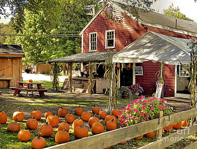 Farmstand Photograph - Bramhalls Country Store Fall 2015 by Janice Drew