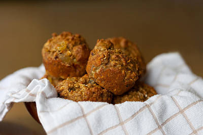 Photograph - Bran Muffins by Melinda Fawver