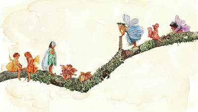 Branch Wall Art - Photograph - Branch Fairies by Anne Geddes