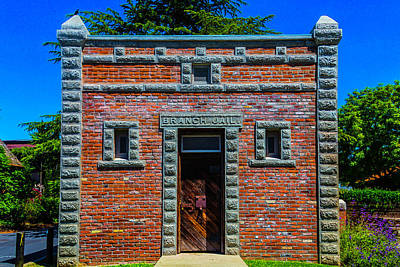 Old West Photograph - Branch Jail Jamestown by Garry Gay