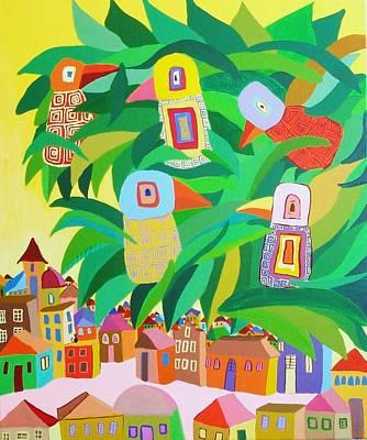 Branch Over The City Original by Mimi Revencu