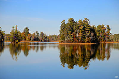 Photograph - Branch Pond Reflections by John Meader