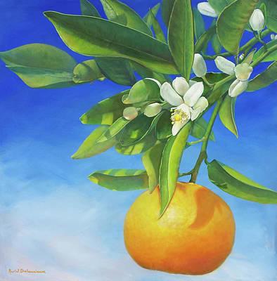 Painting - Branche De Clementine by Muriel Dolemieux