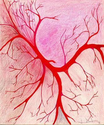 Drawing - Branches Of Red by George D Gordon III