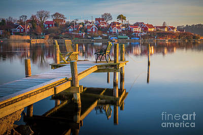 Brandaholm Dock Art Print by Inge Johnsson