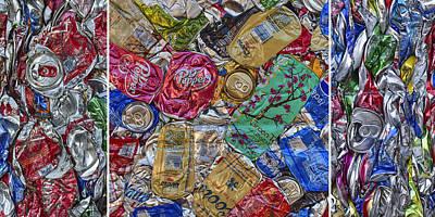 Photograph - Pop Art Triptych by Denise Bush