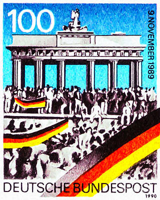 Separation Painting - Brandenburg Gate And Crowd On German by Lanjee Chee